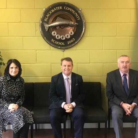 Deputy Principal Maria O'Brien, Principal Denis Ring, Deputy Principal Maurice Geary